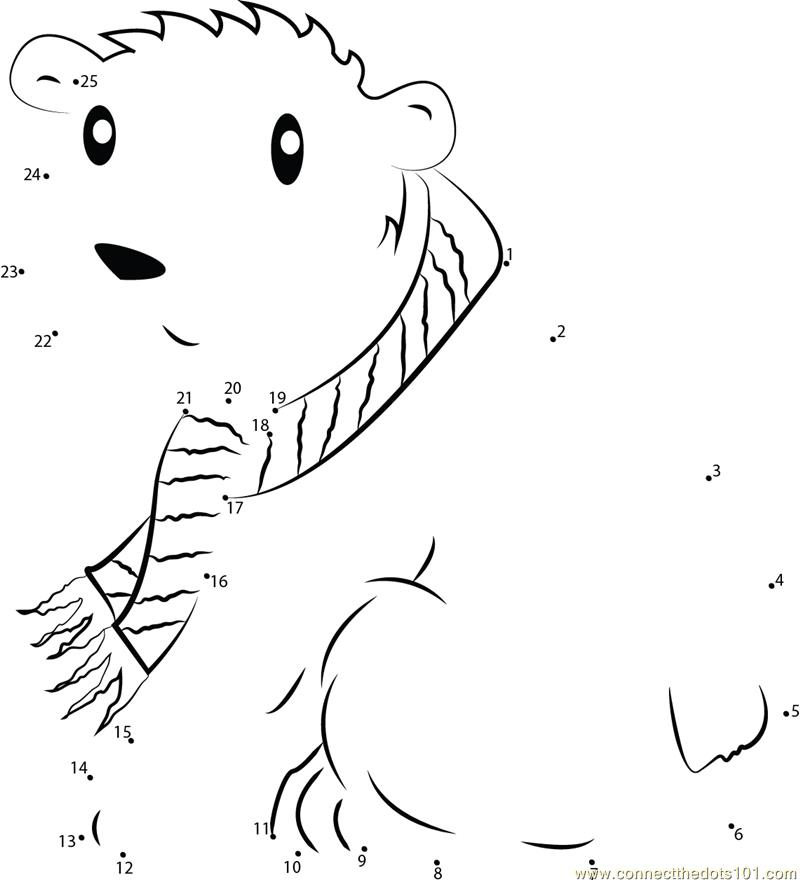 dot to dot polar bear Colouring Pages