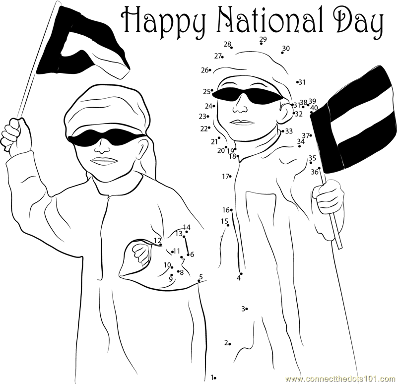 Coloring Pages For Uae National Day : Uae national day coloring pages sketch page