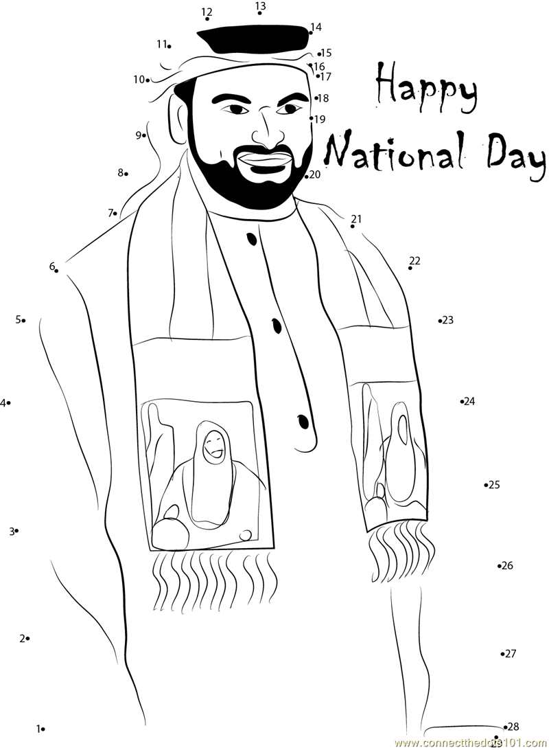 Coloring Book Uae Connect The Dots National Day Worksheet Dot To Page