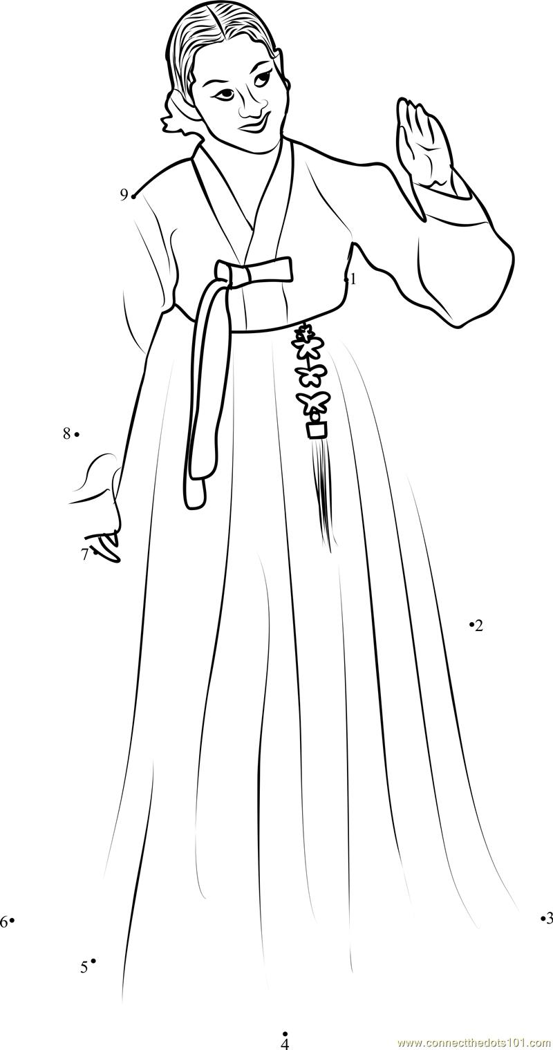 Korean Traditional Dress Sketch
