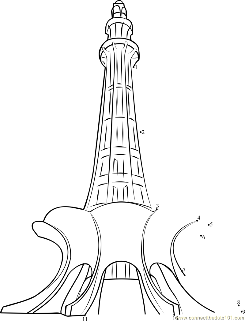 Line Drawing Of Quaid E Azam : Minar e pakistan colouring pages sketch coloring page