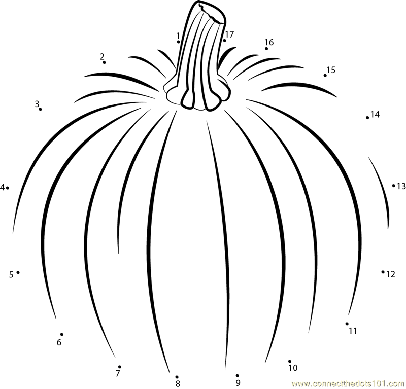 Pumpkin Connect The Dots Worksheet Connect the dots huge pumpkin