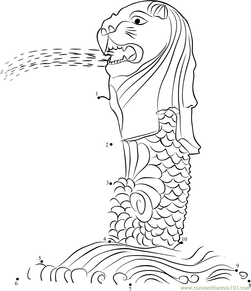 Free coloring pages of re merlion
