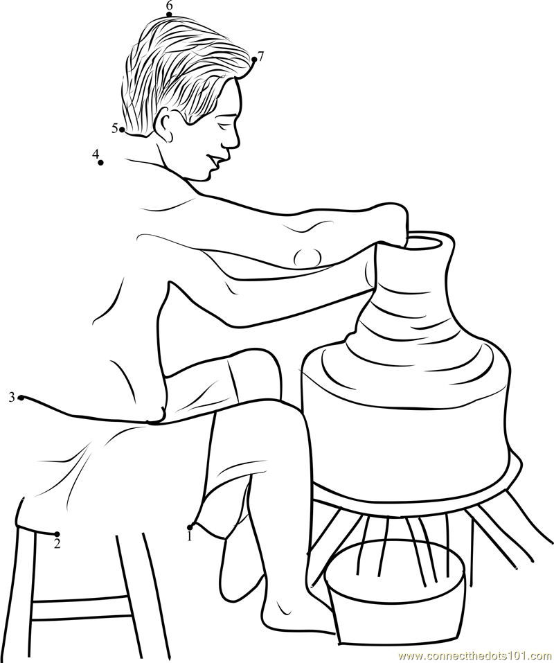 printable clay pot coloring pages - photo#32