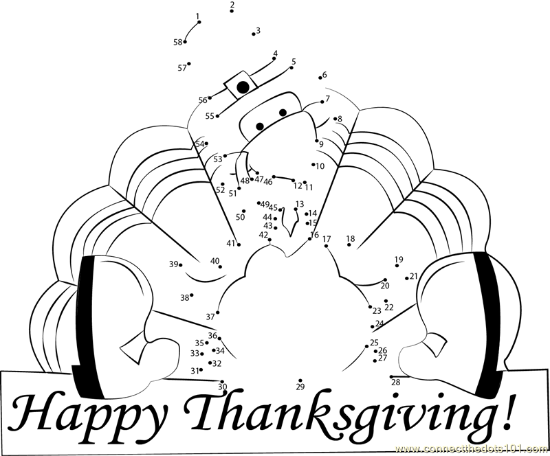 Connect the Dots Thanksgiving Holidays