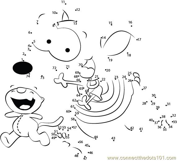 Connect The Dots Toopy And Binoo Cartoons Gt Toopy And Toopy And Binoo Colouring Pages