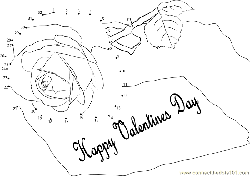 valentine connect the dots coloring pages - photo #31