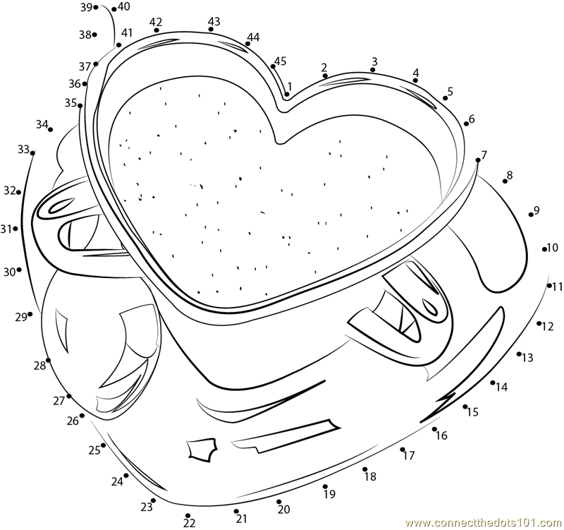 valentine connect the dots coloring pages - photo #47