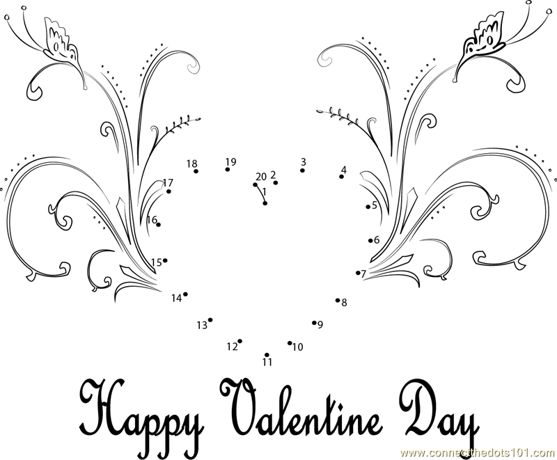Connect the dots valentine heart holidays valentine 39 s for Valentine connect the dots coloring pages