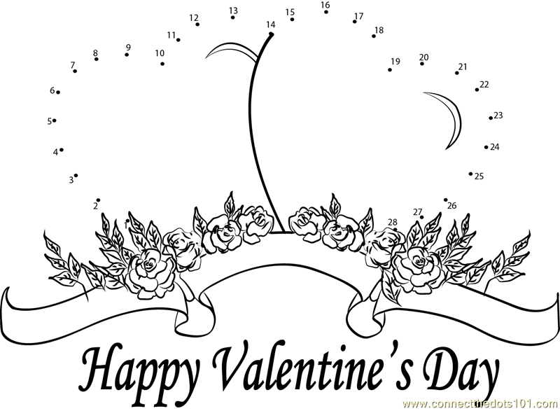 valentine connect the dots coloring pages - photo #20