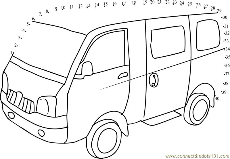 Connect The Dots School Van (Transporation > Van)