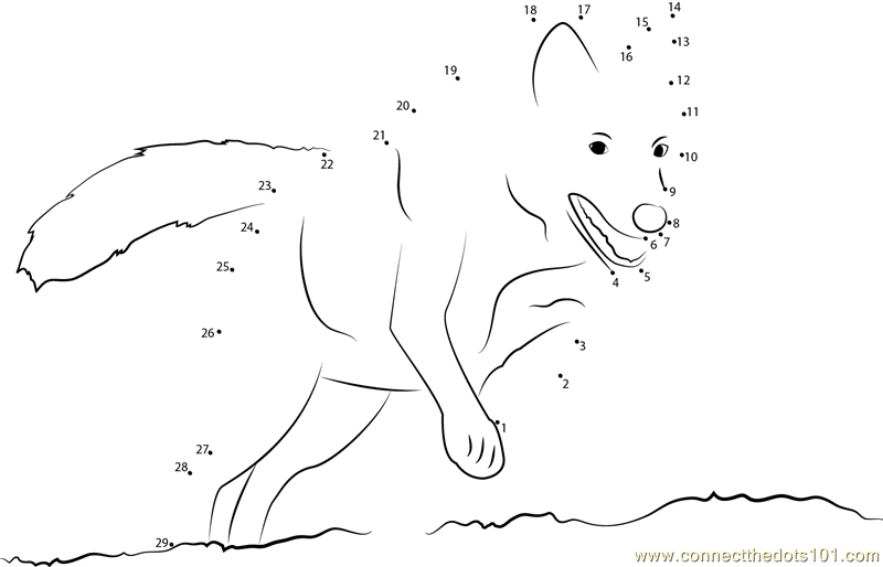 Wolf Connect The Dots Worksheets Hard Sketch Coloring Page